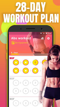 Abs Workout - lose belly fat & build ab in 28 day APK screenshot 1
