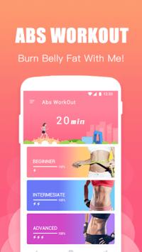 Abs Training-Burn belly fat APK screenshot 1