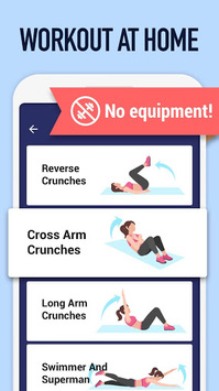 Abs Workout - Burn Belly Fat with No Equipment APK screenshot 1