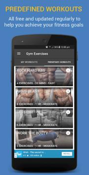 Gym Exercises & Workouts APK screenshot 1