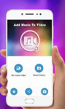 Add  Music To Video 2018 APK screenshot 1