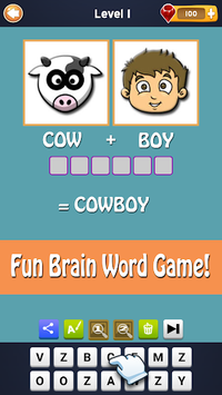2 Pics 1 Word - Fun Word Guessing Game - Pics Quiz APK screenshot 1