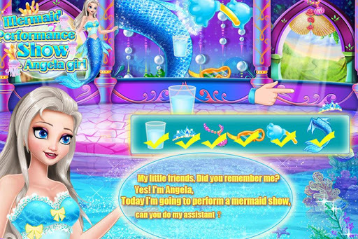 Mermaid Show Angela Girl APK screenshot 1