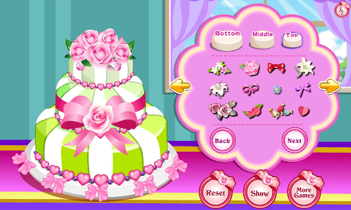 Rose Wedding Cake Game APK screenshot 1