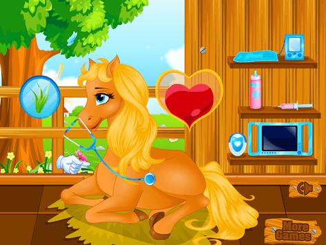 Pony Gives Birth Baby Games APK screenshot 1