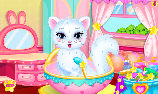 Baby kitty hair salon APK screenshot 1