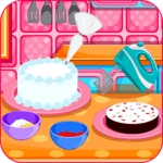 Baking black forest cake icon