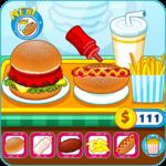 Burger shop fast food icon