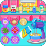 Cooking bubble candy pizza icon