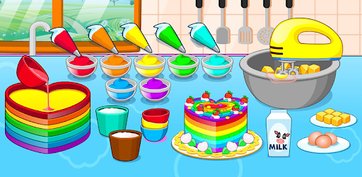 Cooking colorful cake pc screenshot