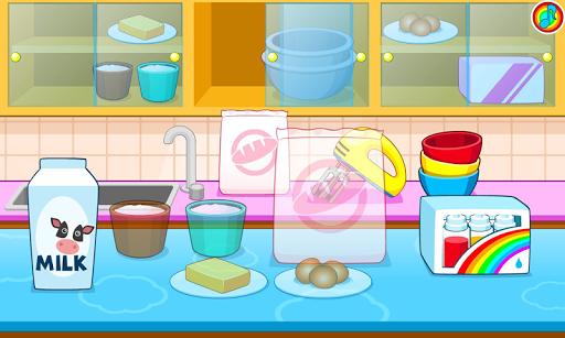 Cooking colorful cake APK screenshot 1