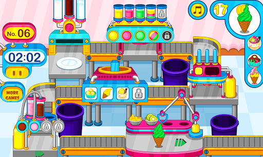 Cooking colorful ice cream APK screenshot 1