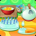Cooking cream cake birthday icon