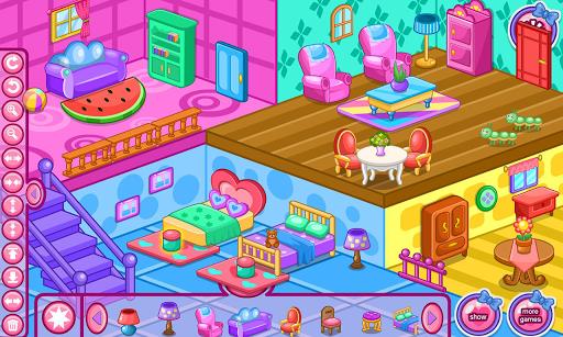 Doll house decoration game APK screenshot 1