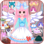 Dress up princess doll icon