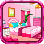 Girly room decoration game for pc icon