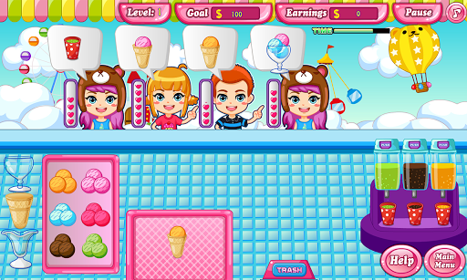 Ice cream maker game APK screenshot 1
