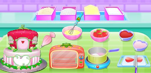 Olivia cooking strawberry cake pc screenshot