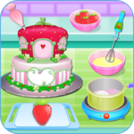 Olivia cooking strawberry cake icon