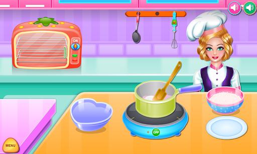 Olivia cooking strawberry cake APK screenshot 1