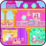 Princess doll house icon