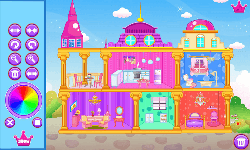 Princess doll house APK screenshot 1