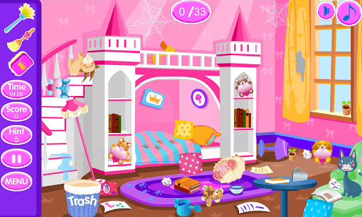 Princess room cleanup APK screenshot 1
