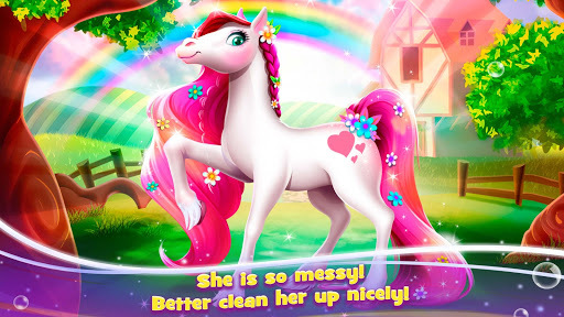 Baby Pony Daycare - Newborn Horse Adventures Game APK screenshot 1