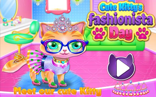 Cute Kitty Fashionista Day apk screenshot 1