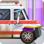 Emergency Vehicles at Car Wash icon