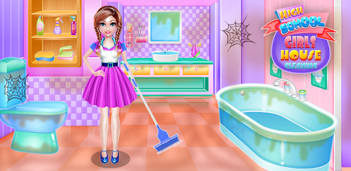 Highschool Girls House Cleaning pc screenshot