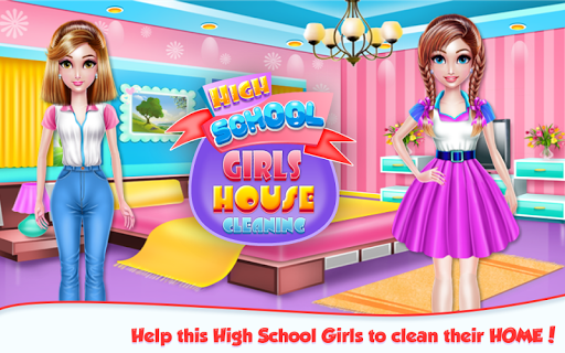 Highschool Girls House Cleaning APK screenshot 1