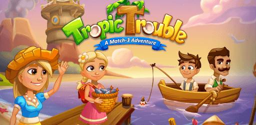 Tropic Trouble Match 3 Builder pc screenshot