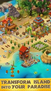 Tropic Trouble Match 3 Builder APK screenshot 1