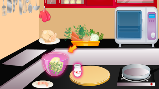 games girl cooking chicken APK screenshot 1