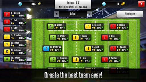 Rugby Manager pc screenshot 2