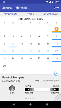 WLC Biblical Calendar APK screenshot 1