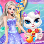 Princess Angela Clean up Cat 2 icon