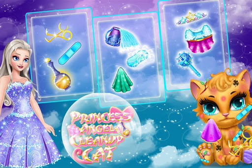 Princess Angela Clean up Cat 2 APK screenshot 1