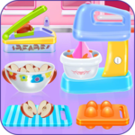 Apple cinnamon cake cooking game icon