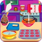 Baking moist chocolate cupcakes icon