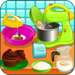 Cooking chocolate cupcakes icon