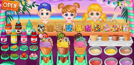 Ice cream shop on the beach pc screenshot