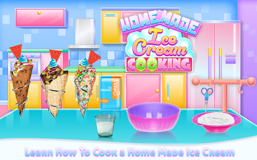 Homemade Ice Cream Cooking APK screenshot 1