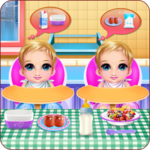 New Born Twins Caring APK icon