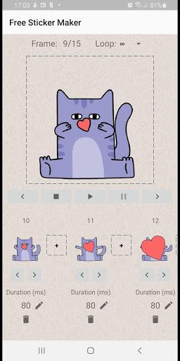 Animated Sticker Maker WAStickerApps APK screenshot 1