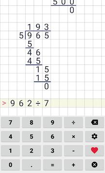 Division calculator APK screenshot 1