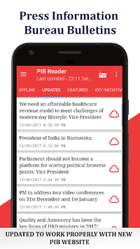 PIB Reader 🗞 & AIR News 📻 - GOI update & GK APK screenshot 1