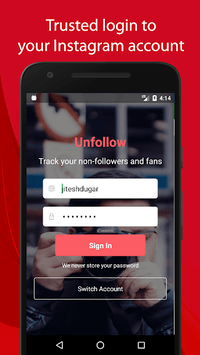 Unfollow for Instagram - Non followers & Fans APK screenshot 1