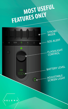 LED Flashlight Selene & FLASH APK screenshot 1